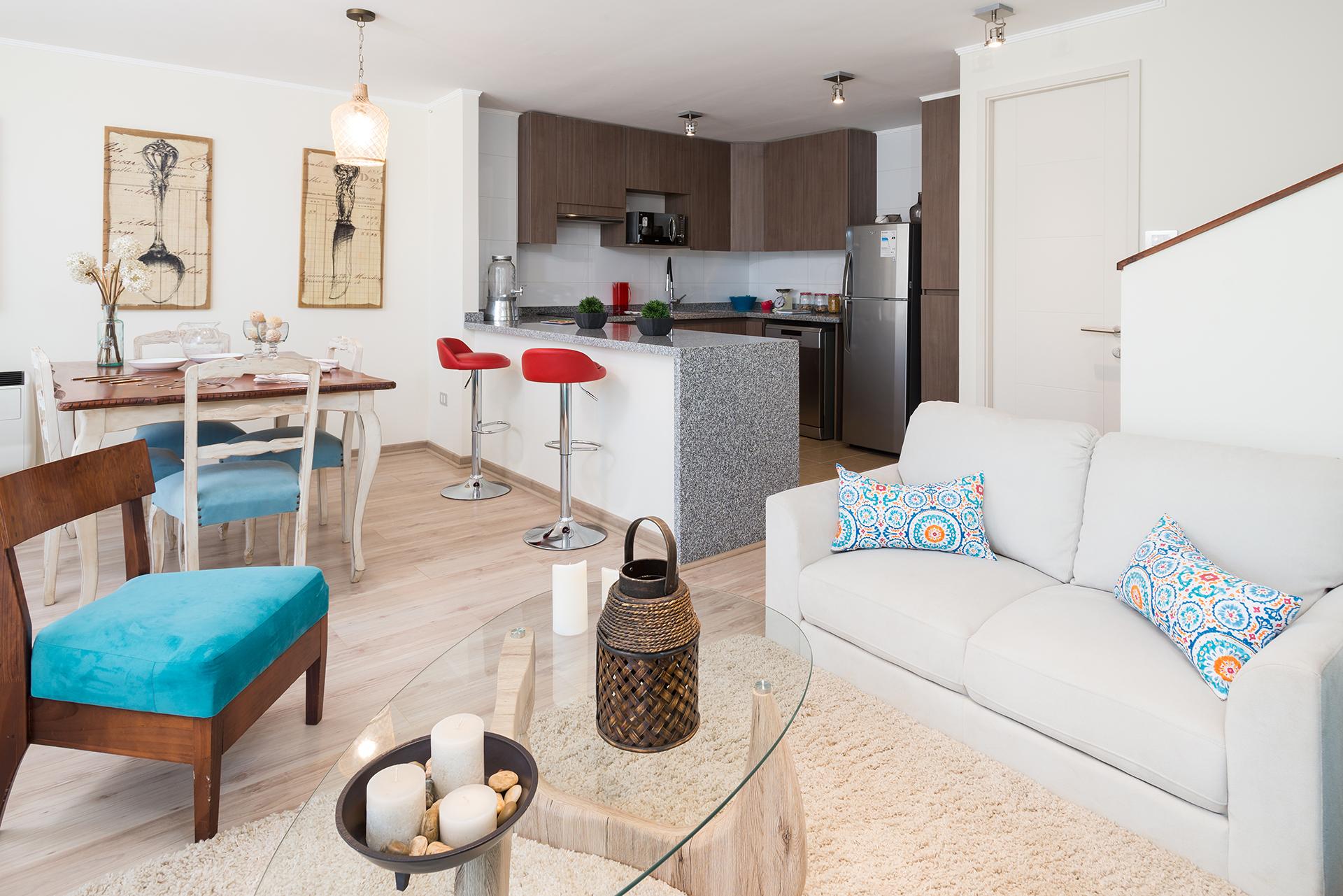 Vista Condominio Versalles Living-Comedor-Cocina
