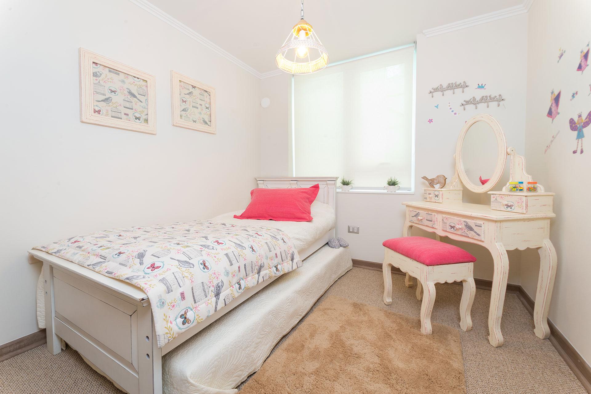 Vista dormitorio individual Condominio Versalles