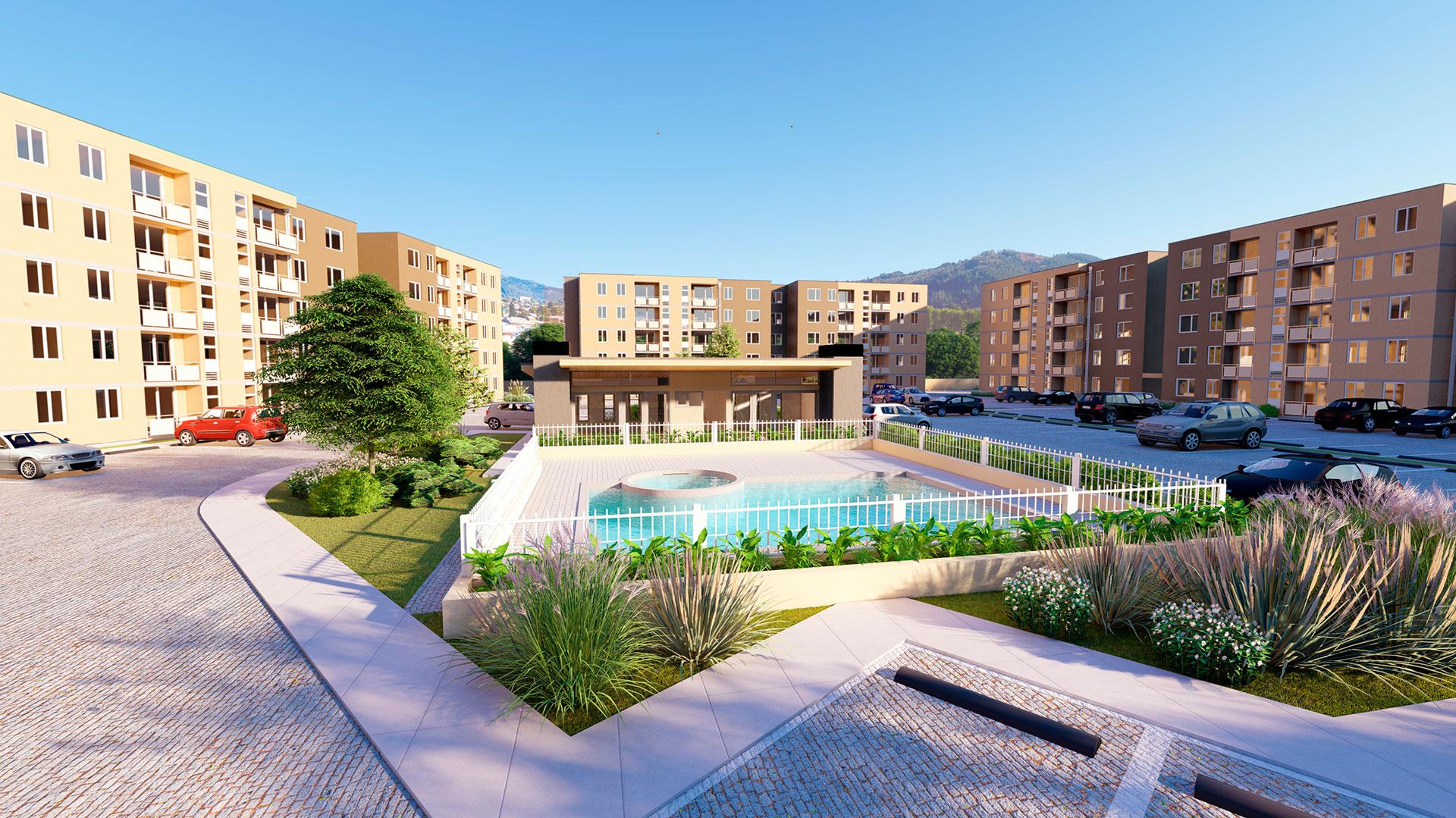 Vista piscina Parque Oriente