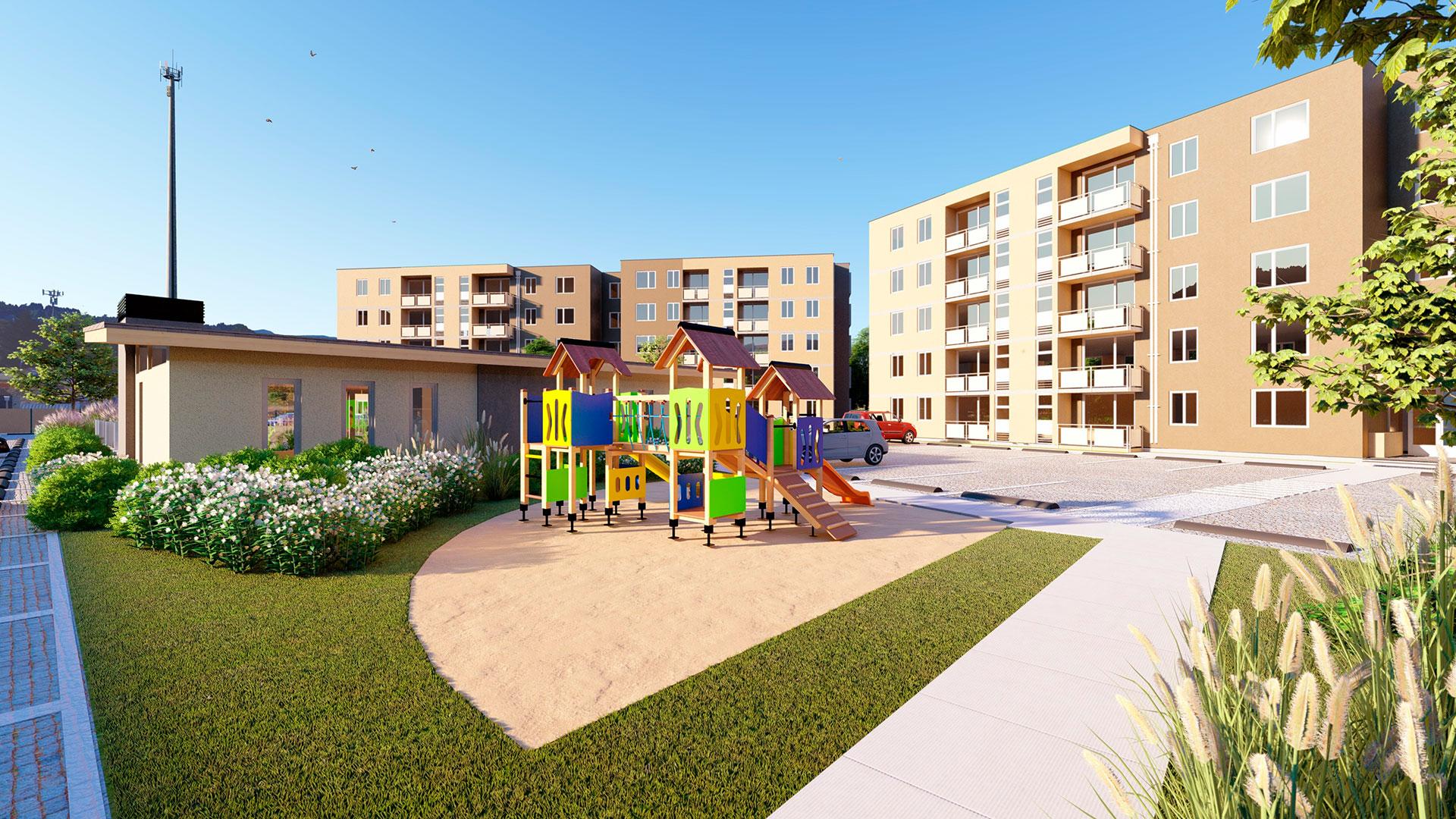 Vista parque infantil Parque Oriente