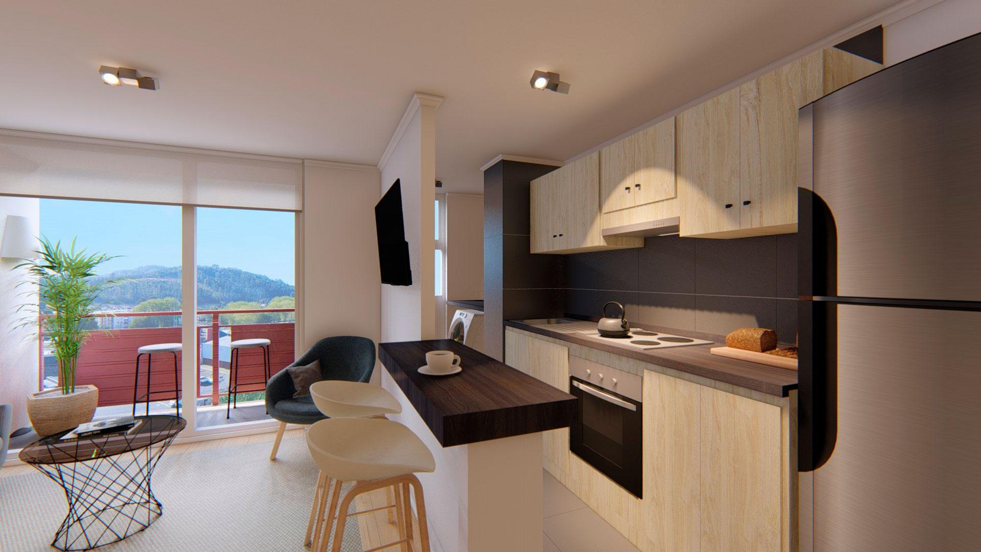 Vista cocina Parque Oriente