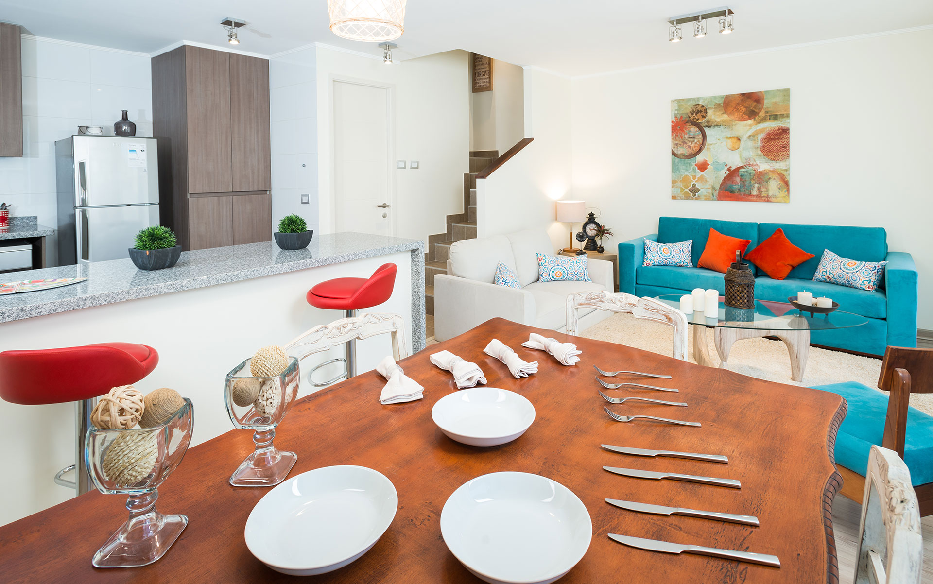 cocina-comedor-living Condominio Versalles