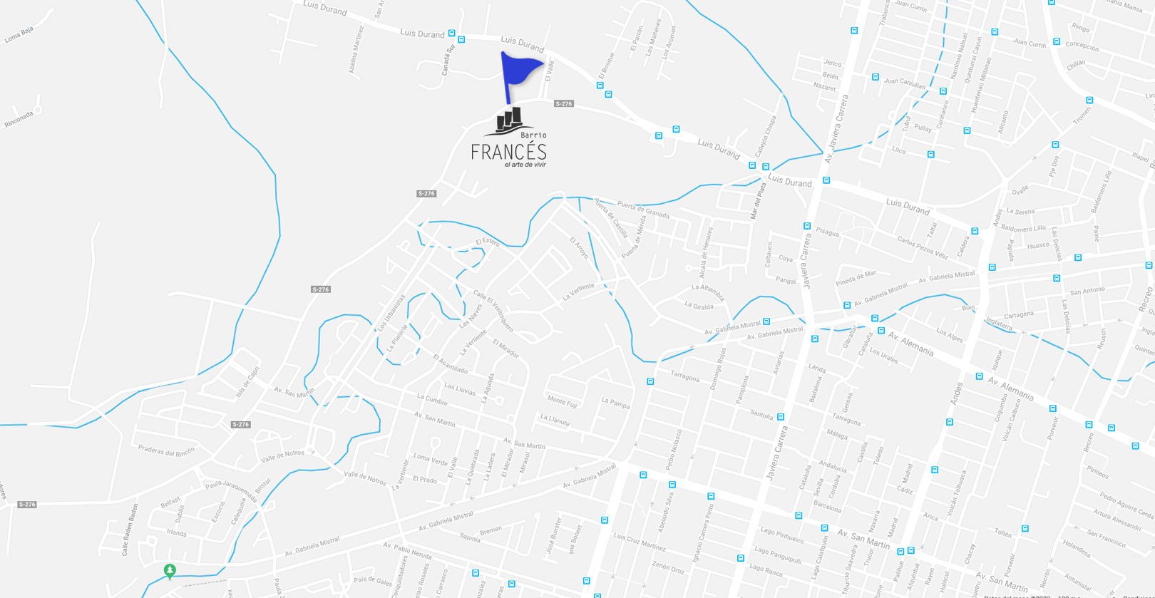 Condominio Versalles Mapa-Dubois