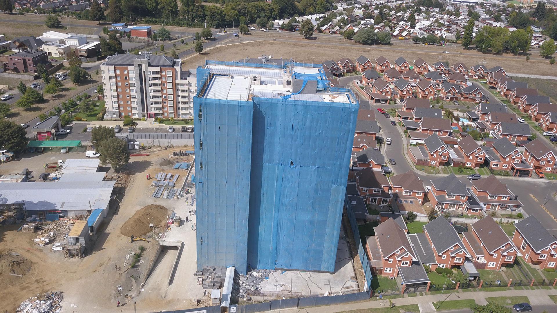 Edificio Mont Blanc en construcción
